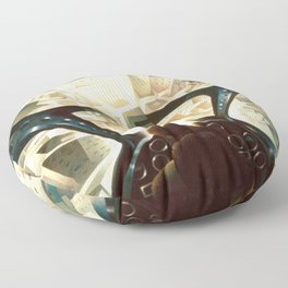 Nose Dive Into the City by T. Crali Floor Pillow