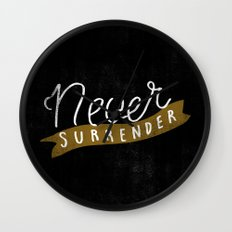 Never Surrender Wall Clock