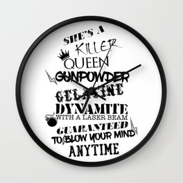 Killer Queen Lyric quote Wall Clock
