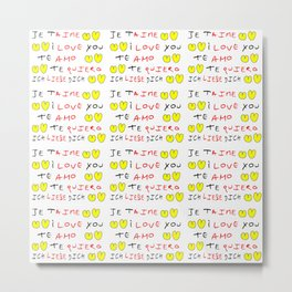 Je t'aime 7-i love you,je t'aime,te amo,te quiero,ich liebe dich,love,romantism,romantic,heart,cute Metal Print