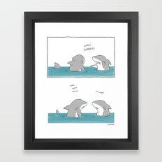 Shark Week  Framed Art Print