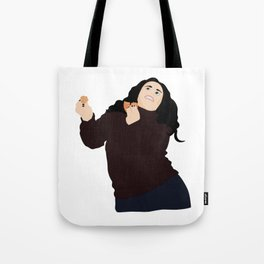 Monica Geller eating and dancing Tote Bag