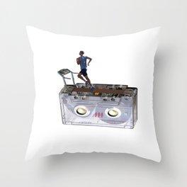 Cassette Tape Running Treadmill Throw Pillow