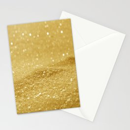 Glitter Gold Stationery Cards