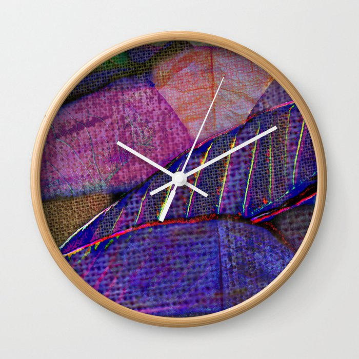 Floral patchwork(15). Wall Clock by maryberg