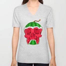 Watermelon skull Unisex V-Neck