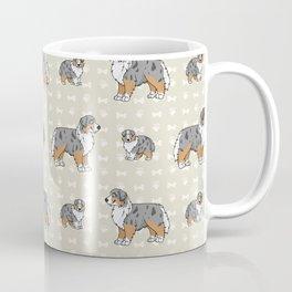 Hand drawn cute australian shepherd breed dog.  Coffee Mug