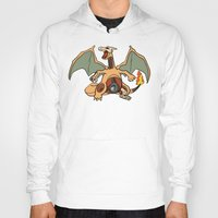 charizard Hoodies featuring Charizard Anatomy by Logan Niblock