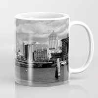 pittsburgh Mugs featuring Pittsburgh Skyline by Layne Andrews