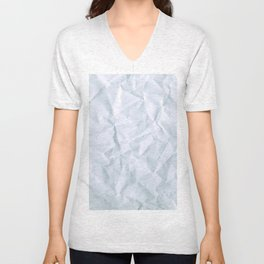 Crushed Paper Unisex V-Neck