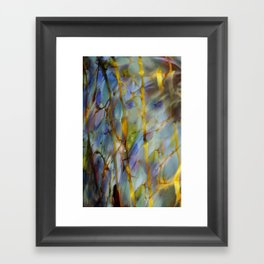 Abstract Blue Framed Art Print
