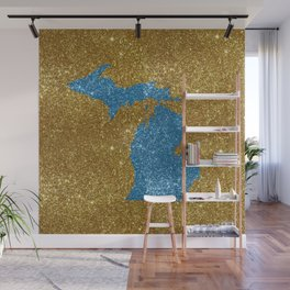 Michigan glitter Wall Mural