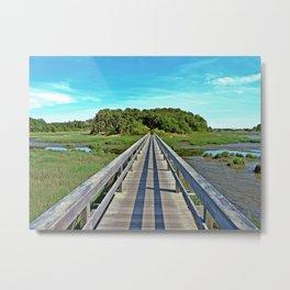 Uncle Tim's Bridge at Low Tide  Metal Print