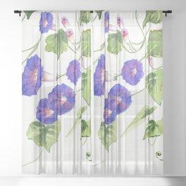Morning Glory Sheer Curtain