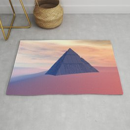Ancient Pyramid In Desert Rug