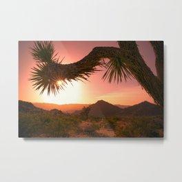 Mojave Golden Hour Metal Print