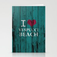 grand theft auto Stationery Cards featuring Los Santos I love Vespucci Beach Grand Theft Auto by KeenaKorn