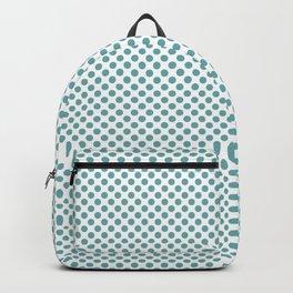 Aqua Sea Polka Dots Backpack