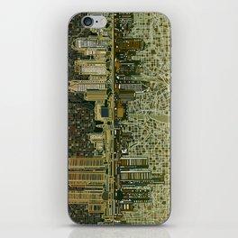 detroit city skyline iPhone Skin