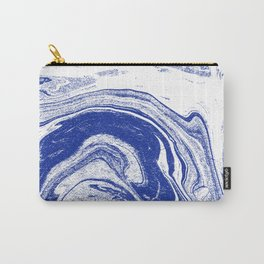 Marble blue 3 Suminagashi watercolor pattern art pisces water wave ocean minimal design Carry-All Pouch