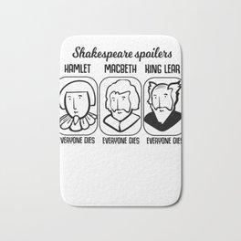 Shakespeare Quote Spoiler Hamlet Teacher Gift Bath Mat