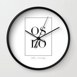 Oslo Letters Wall Clock