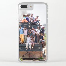 Train in the kitchen Clear iPhone Case