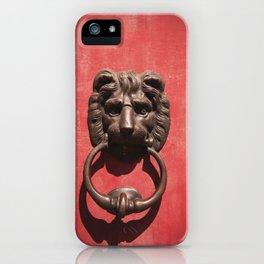 Red Door with Lion head  iPhone Case