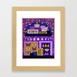 Scorpio Midnight Magic Framed Art Print