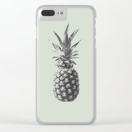 Pineapple (Green) Clear iPhone Case