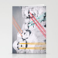 rushmore Stationery Cards featuring Embroidered Mt. Rushmore by Mana Morimoto