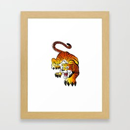 Japanese Tiger Framed Art Print