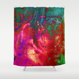 Weeping Fireworks Shower Curtain