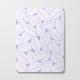 Leaves in Lavender Metal Print