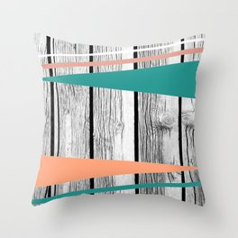 Colored arrows on wood Throw Pillow