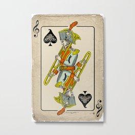 musical poker / trombone Metal Print