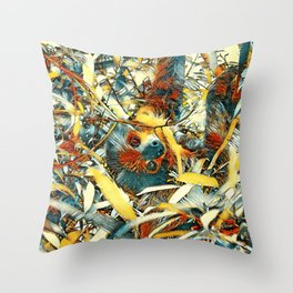 AnimalArt_Sloth_20171205_by_JAMColors Throw Pillow
