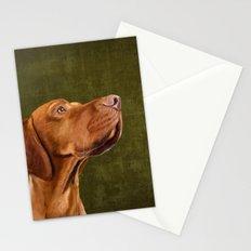 Magyar Vizsla portrait Stationery Cards