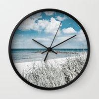 brazil Wall Clocks featuring BRAZIL by Iris Lehnhardt