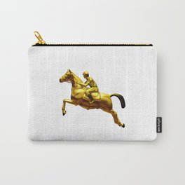 Horse Rider Gold Carry-All Pouch