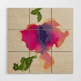 Abstract Flower Wood Wall Art