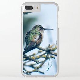 Ruffled Hummingbird Clear iPhone Case