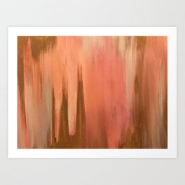 Blush with Gold Abstract Art Print
