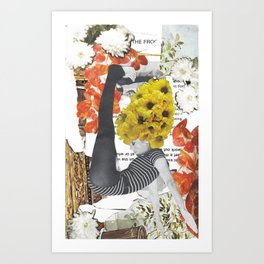Fonda Flower Collage Art Print