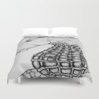 sea horse Duvet Covers featuring Sea Horse by Stephanie Darling