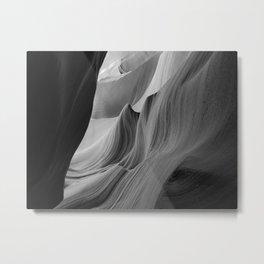 Canyon (Black and White) Metal Print