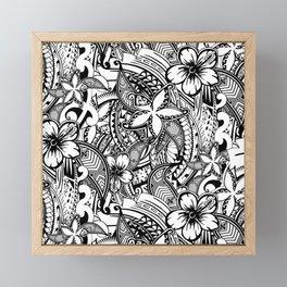 Hawaiian Polynesian Trbal Tatoo Print Framed Mini Art Print
