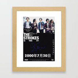 The Strokes Is This It Framed Art Print
