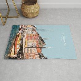 Copenhagen, Denmark Travel Artwork Rug