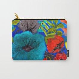 Blue Garden Carry-All Pouch